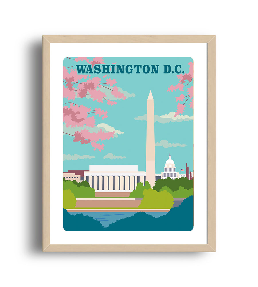 Washington DC art print- The Imagination Spot