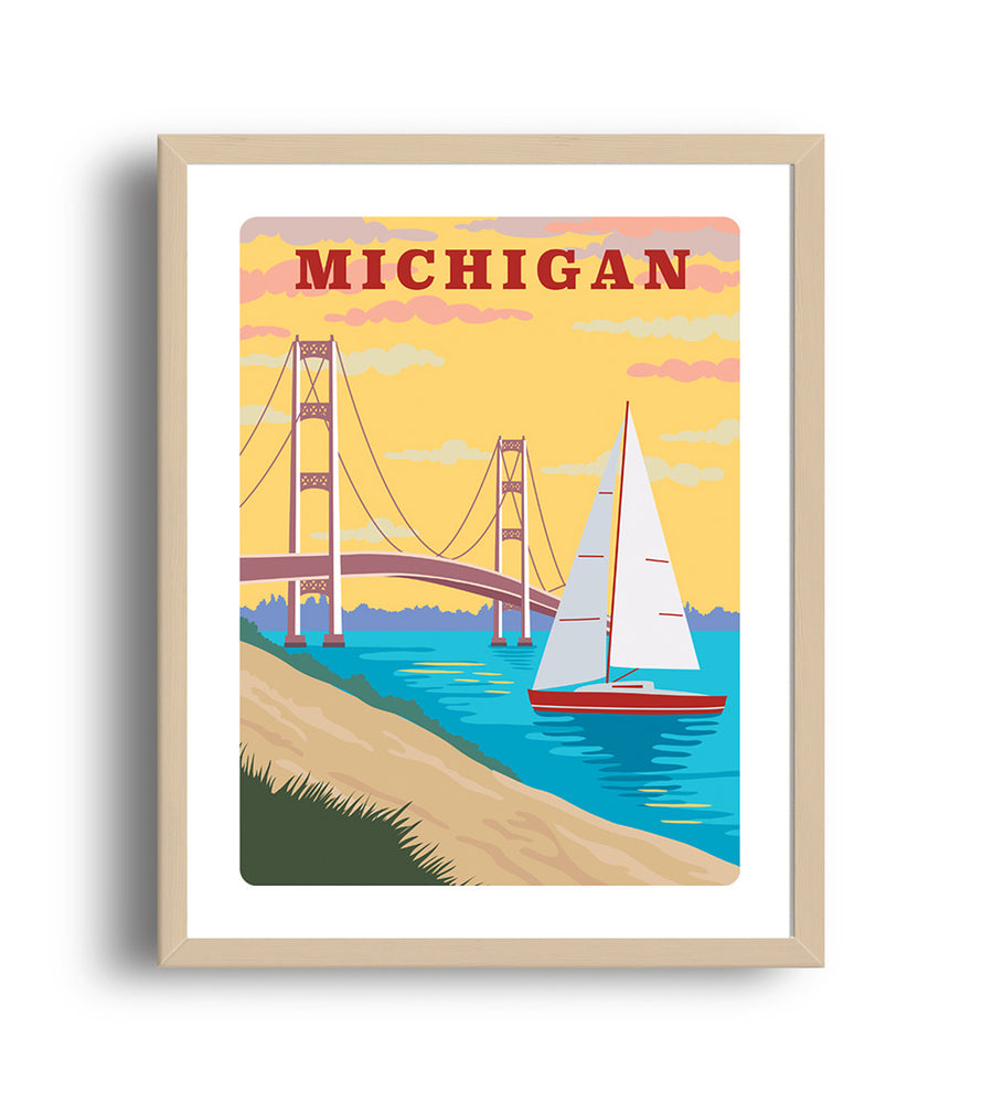 Michigan Art Print