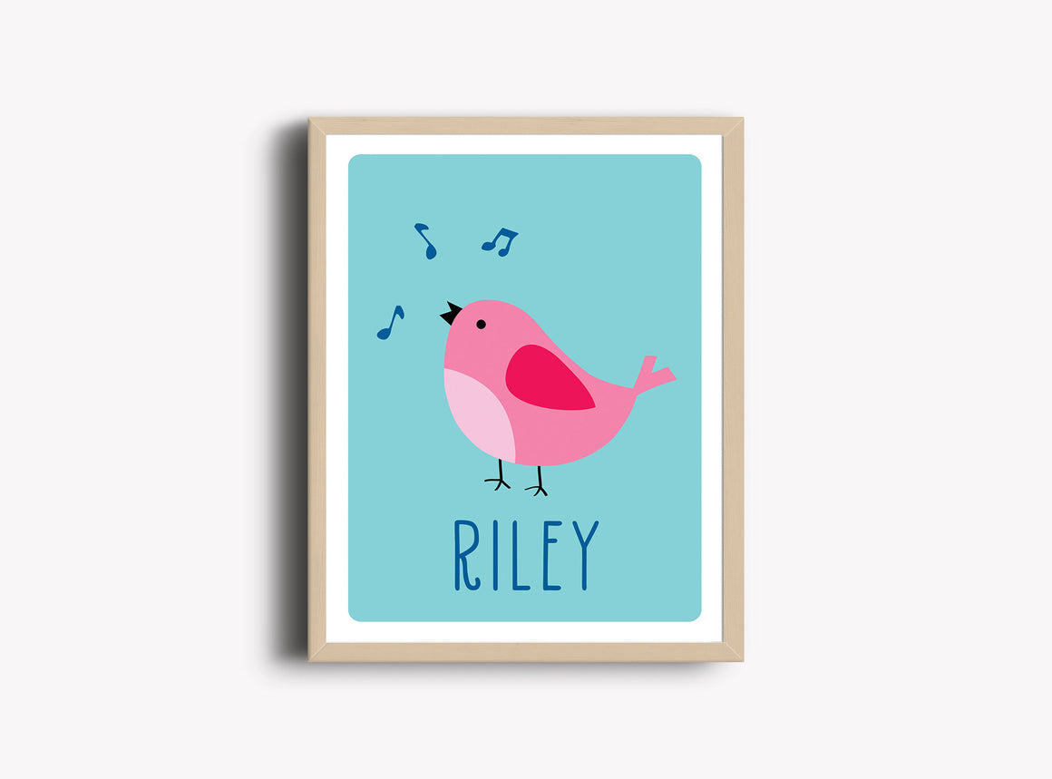 Personalized Art Print - Bird - Nursery Wall Art - The Imagination Spot - 1