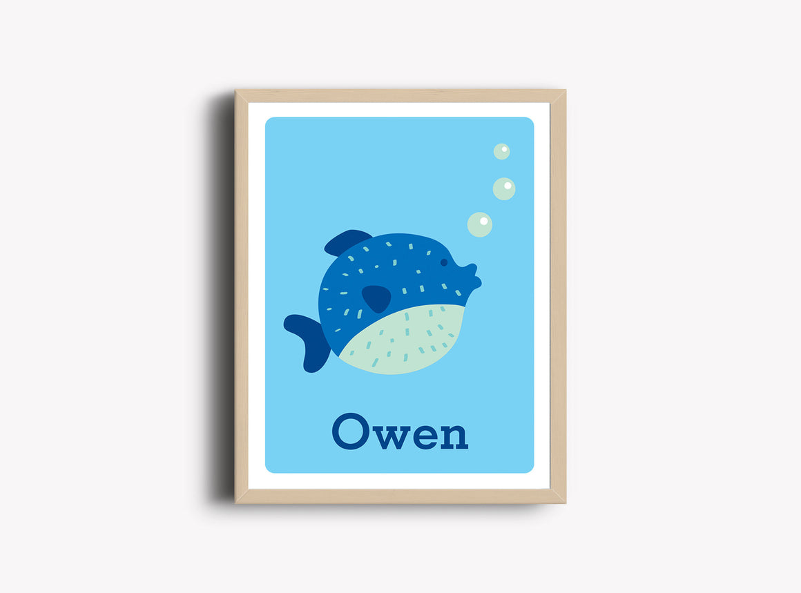 Personalized Art Print - Fish - Nursery Wall Art - The Imagination Spot