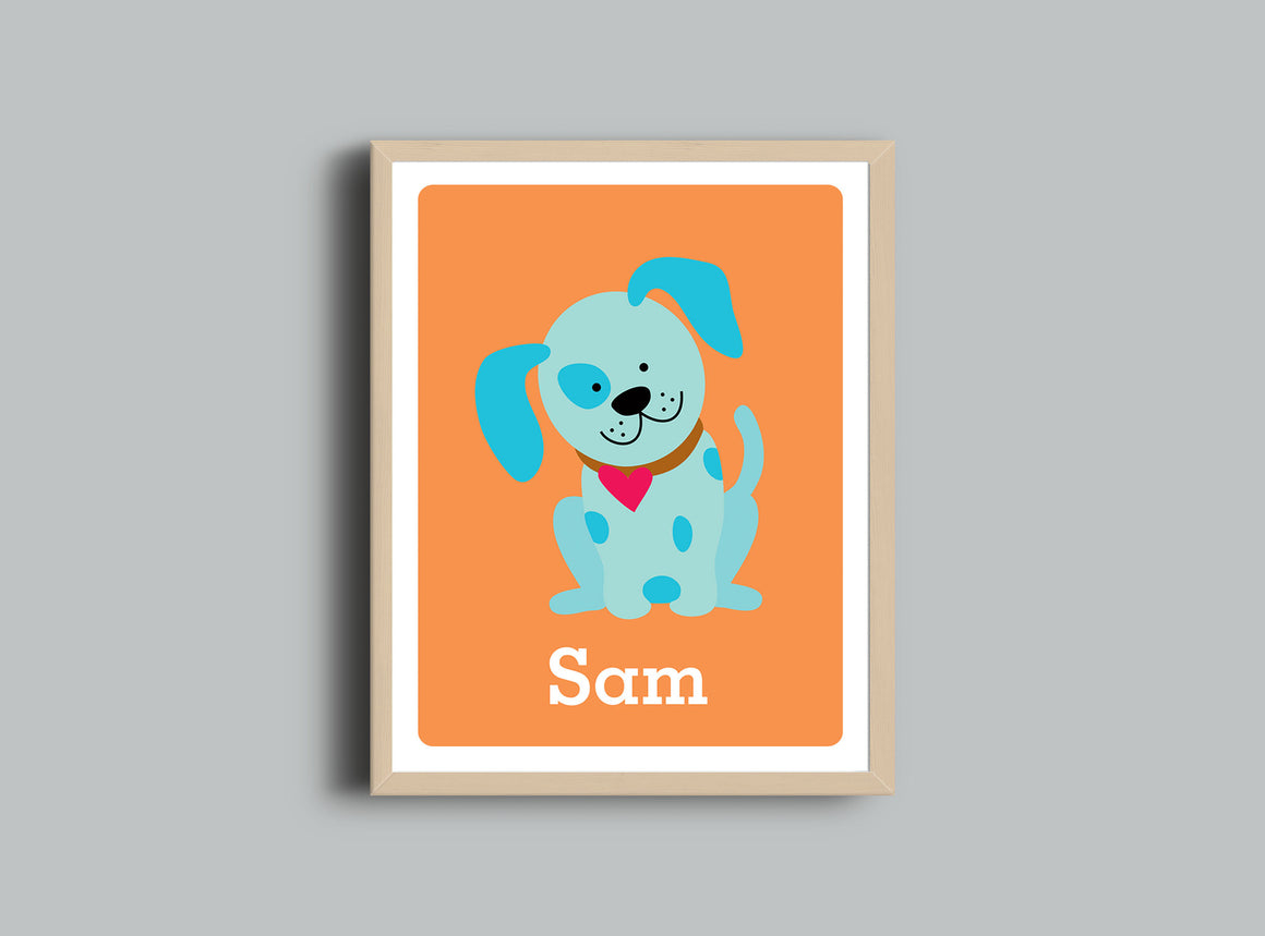Personalized Art Print - Puppy - Nursery Wall Art - The Imagination Spot