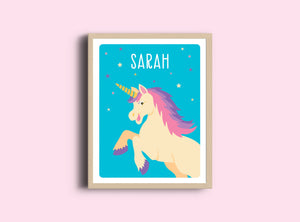 Personalized Art Print - Unicorn - Nursery Wall Art - The Imagination Spot - 1