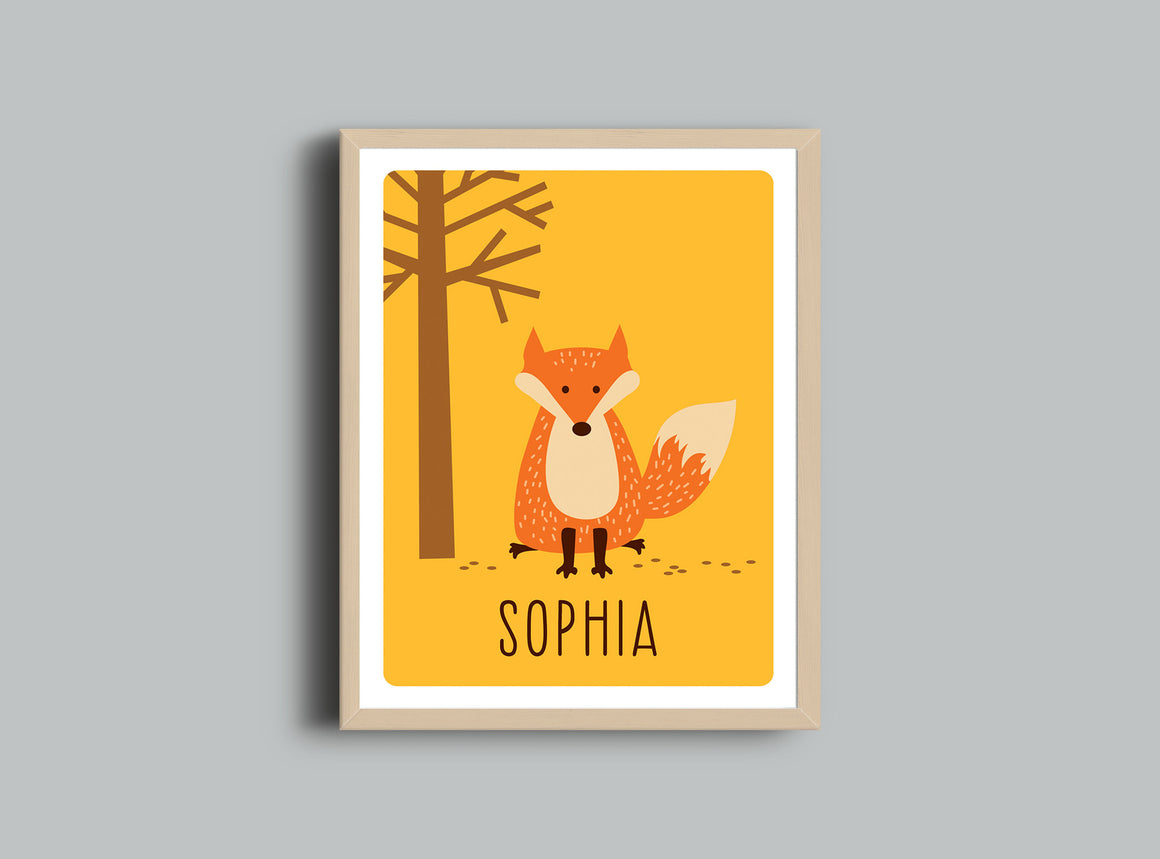 Personalized Art Print - Fox Wall Art by The Imagination Spot
