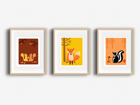 Home Decor Art Print - Squirrels - Woodland Animals Wall Art - The Imagination Spot - 3