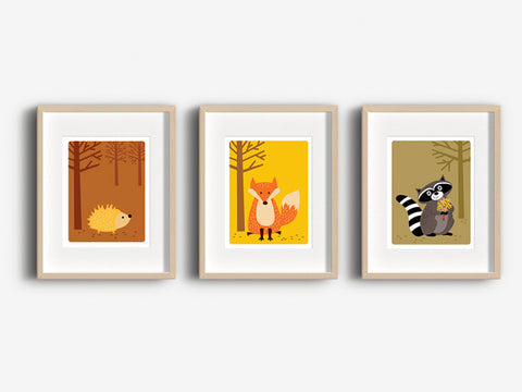 Home Decor Art Print - Hedgehog - Woodland Animals Wall Art - The Imagination Spot - 3