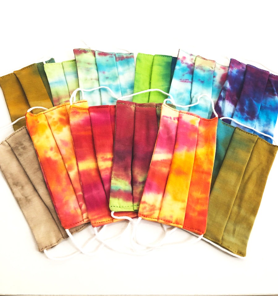 Adult/Teen Tie Dye Pleated Face Mask