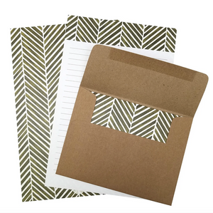 Herringbone Letter Writing Set