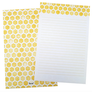 Yellow Honeycomb Letter Writing Set