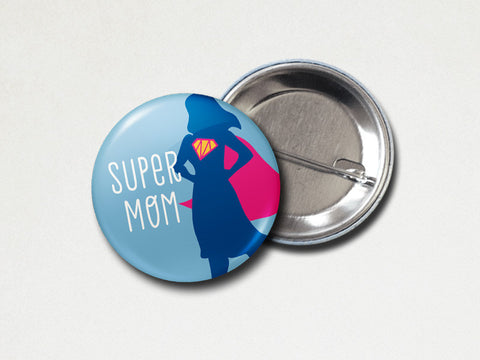 Pinback Button - Super mom - The Imagination Spot - 2