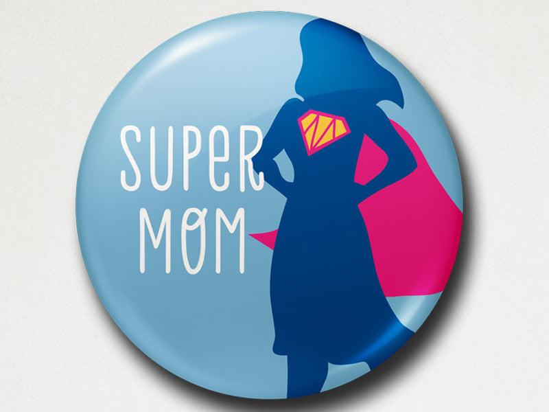 Pinback Button - Super mom - The Imagination Spot - 1