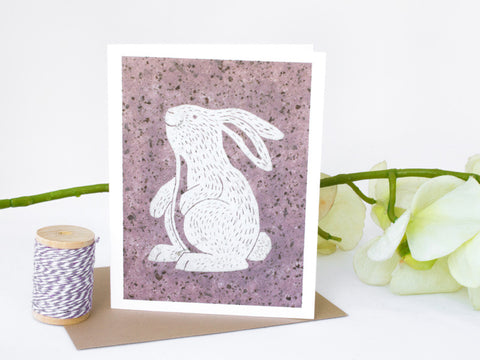 Bunny Note Card Set - Woodland Animals - Handmade Cards