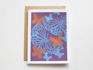 Butterfly Note Card Set - Linocut - Handmade Cards - The Imagination Spot - 4