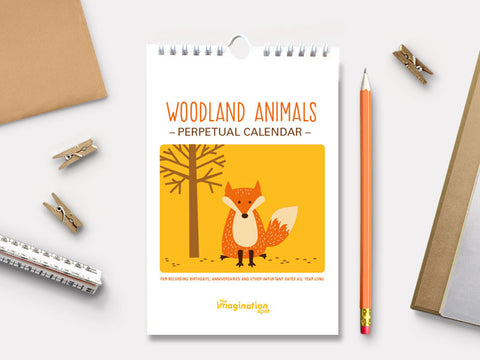 Perpetual Calendar - Birthday Calendar - Woodland Animals