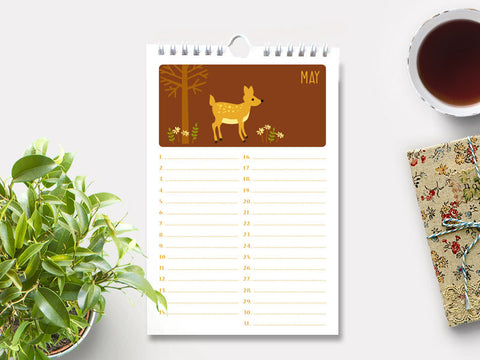 Perpetual Calendar - Birthday Calendar - Woodland Animals - The Imagination Spot - 3