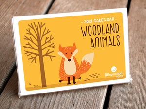 2019 Desk Calendar - Woodland Animals by The Imagination Spot