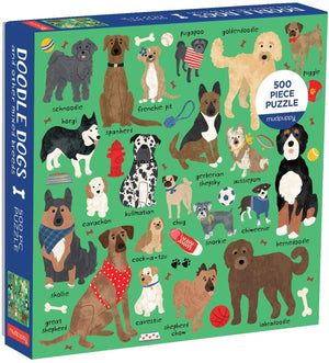 Doodle Dogs Jigsaw  - 500 Piece puzzle