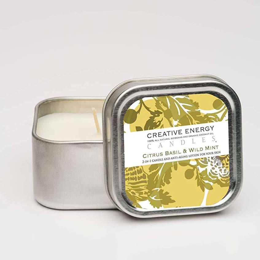 2-in-1 Soy Lotion Candle Tin - 3.5oz Travel Tin