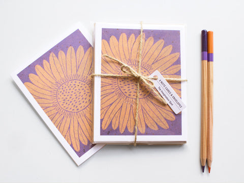 Daisy Note Card Set - Floral Cards - Handmade Cards - The Imagination Spot - 3
