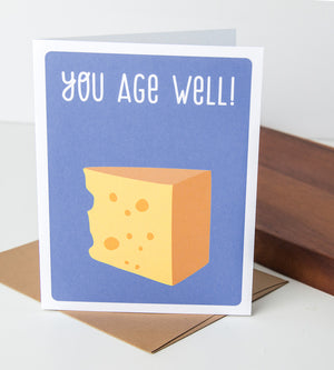 Birthday Card - You Age Well - Humorous Birthday Card - For Him - For Her - The Imagination Spot