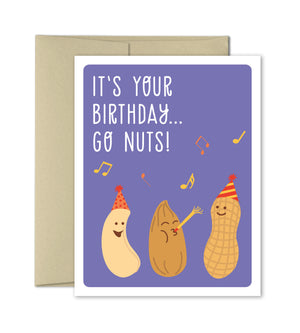 Birthday Card - Go Nuts - Funny Birthday Card by The Imagination Spot