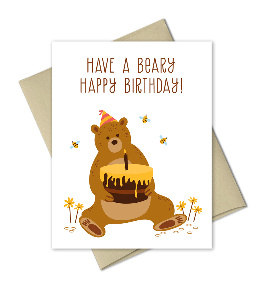 Birthday Card - Beary Happy Birthday - The Imagination Spot