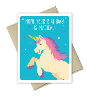 Unicorn Birthday Card - Magical Birthday by The Imagination Spot - The Imagination Spot