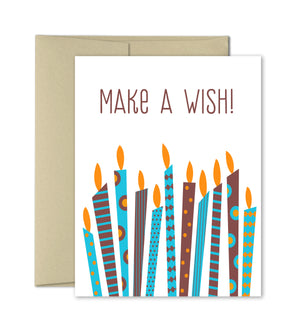 Birthday Card - Make A Wish - Greeting Card
