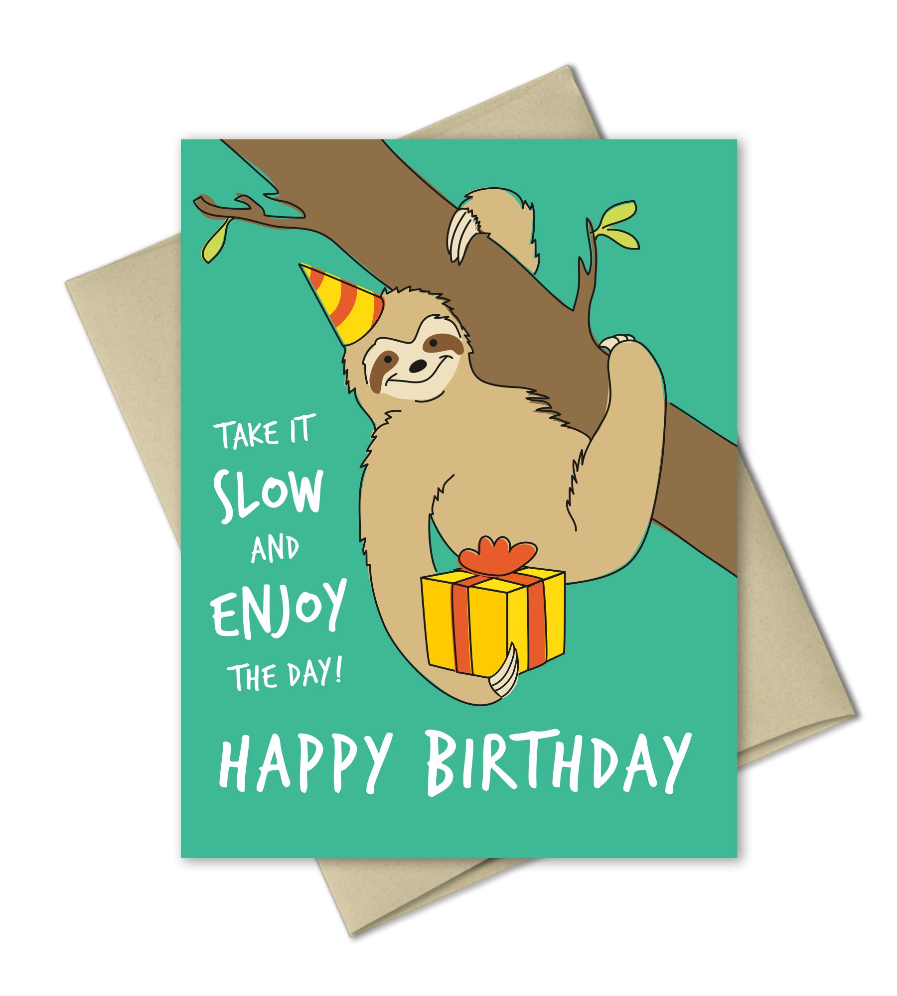 Birthday Greeting Card Sloth Birthday The Imagination Spot