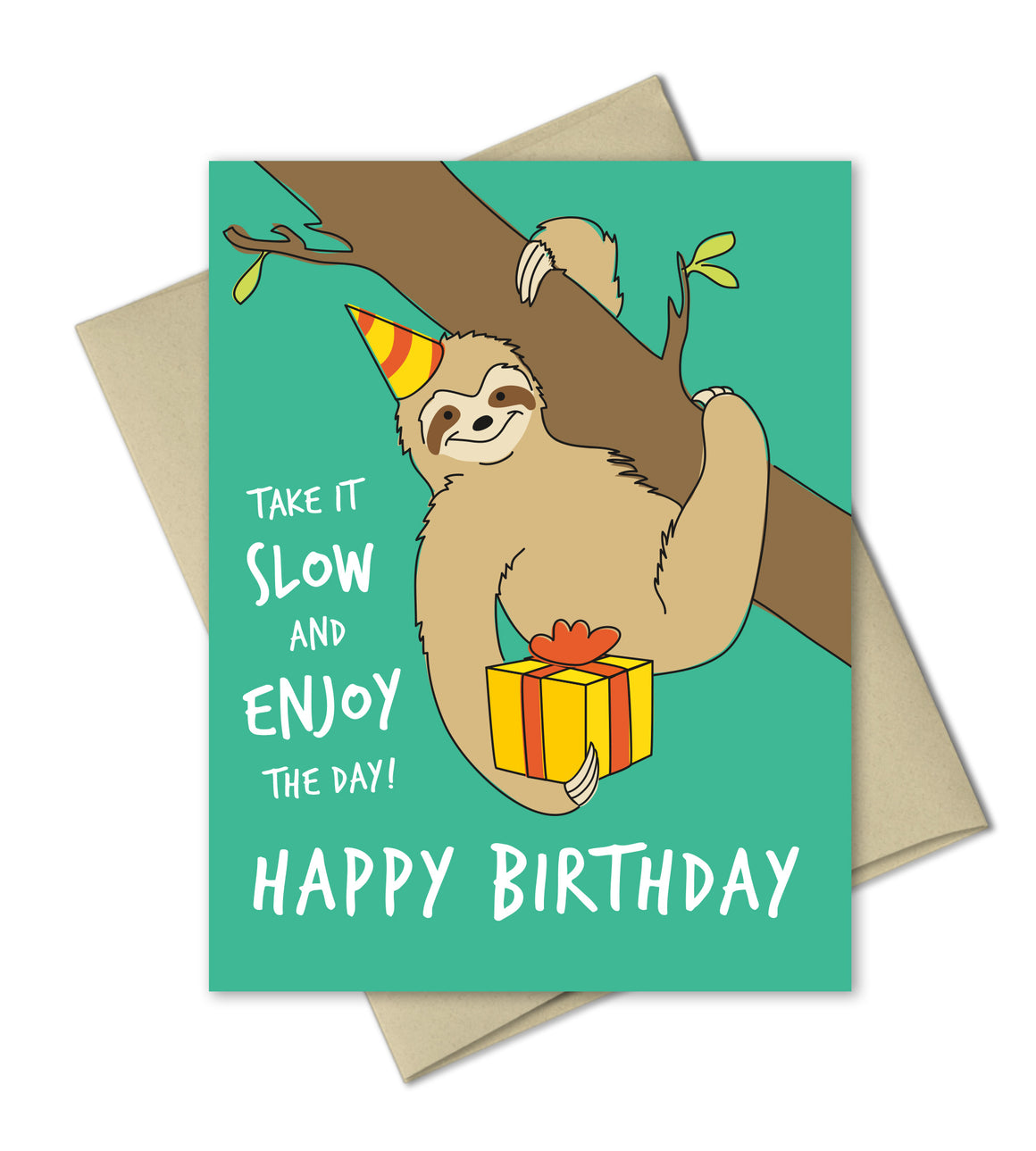 Birthday Greeting Card - Sloth Birthday