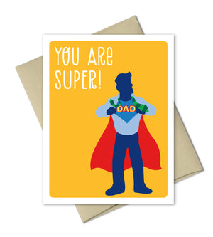 Father's Day card - Super Dad - The Imagination Spot