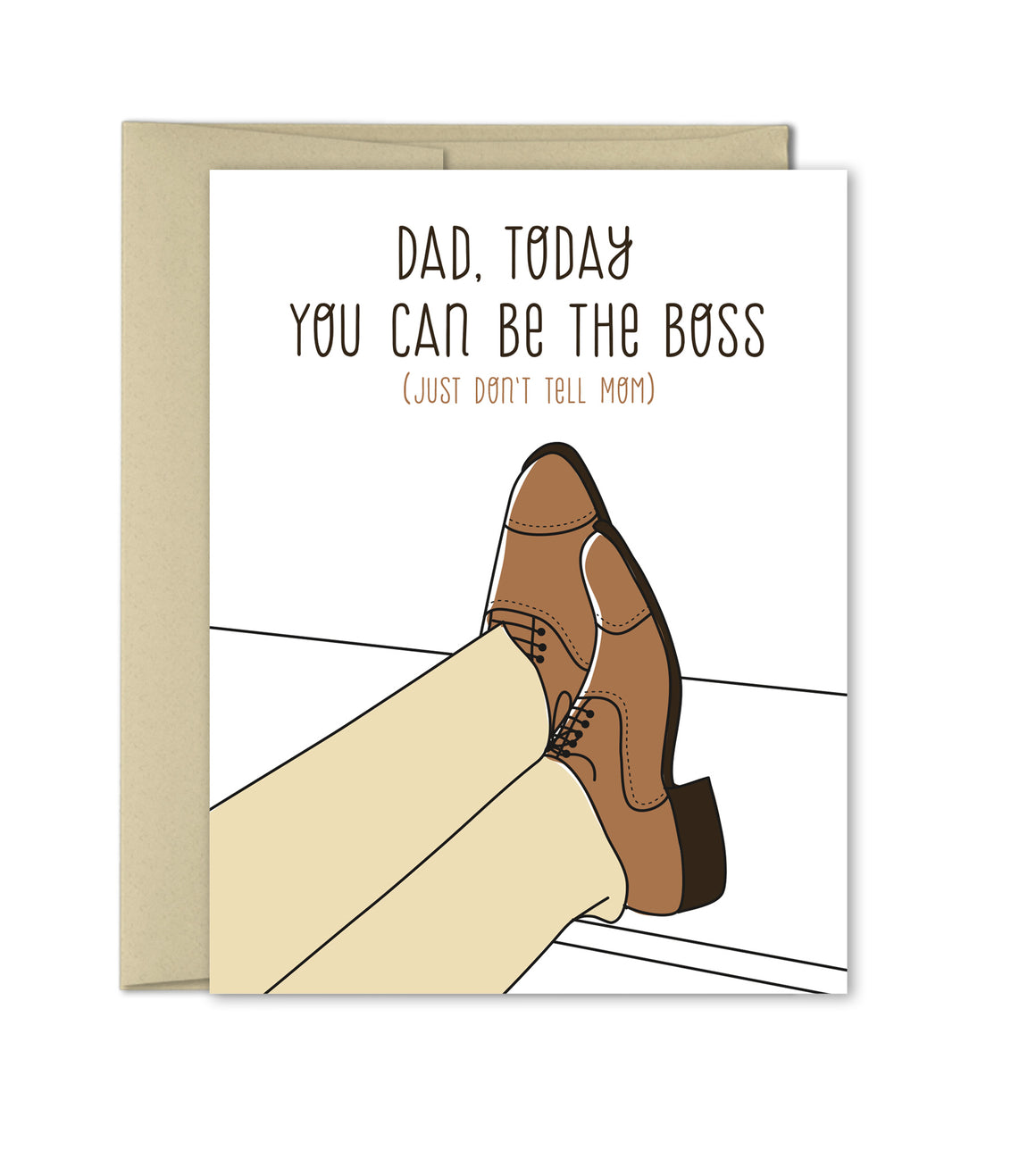 Father's Day Card - Funny cards for dad - Dad, today you can be the boss! - The Imagination Spot