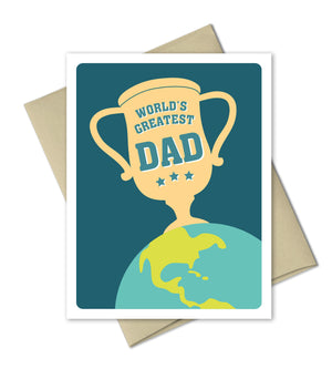 Father's Day Card - World's Greatest Dad - Card by The Imagination Spot - The Imagination Spot