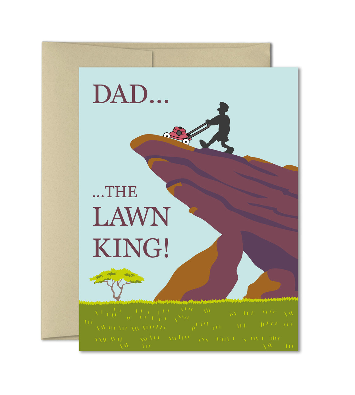 Humorous card for Dad - Fathers day cards - Lawn King
