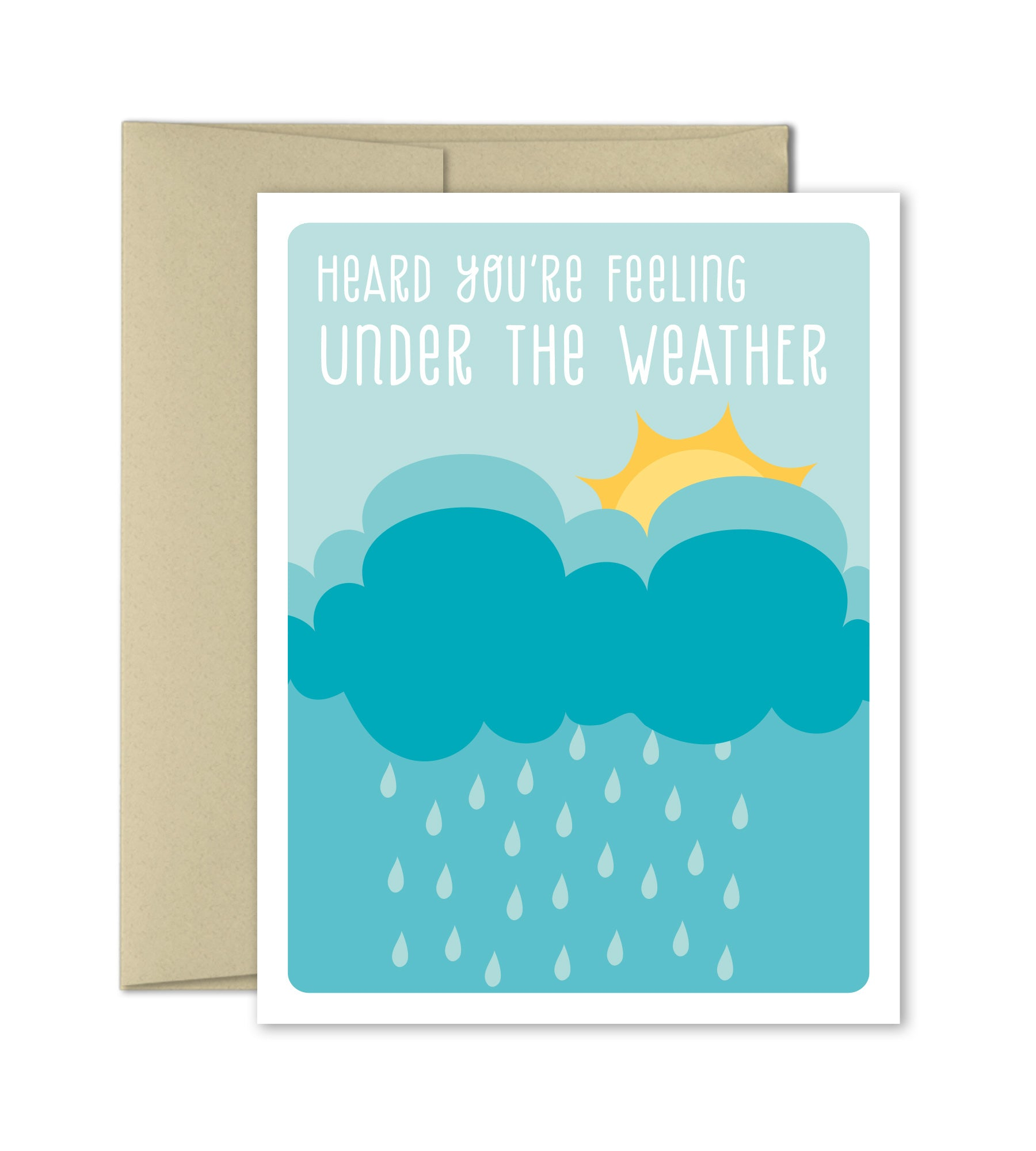 Under The Weather Get Well Greeting Card The Imagination Spot
