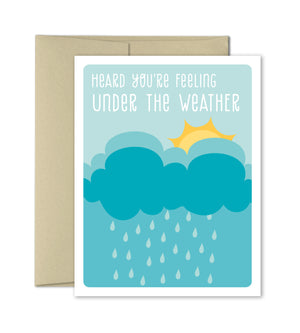 Under the weather - Get Well Greeting Card - The Imagination Spot