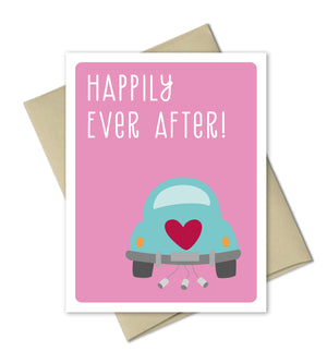 Wedding Congrats Card - Happily Ever After - The Imagination Spot - 2