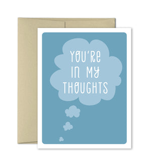 Sympathy Card - Thinking of You Card - In My Thoughts - The Imagination Spot