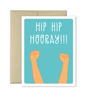 Congratulations Card - Hip Hip Hooray - The Imagination Spot