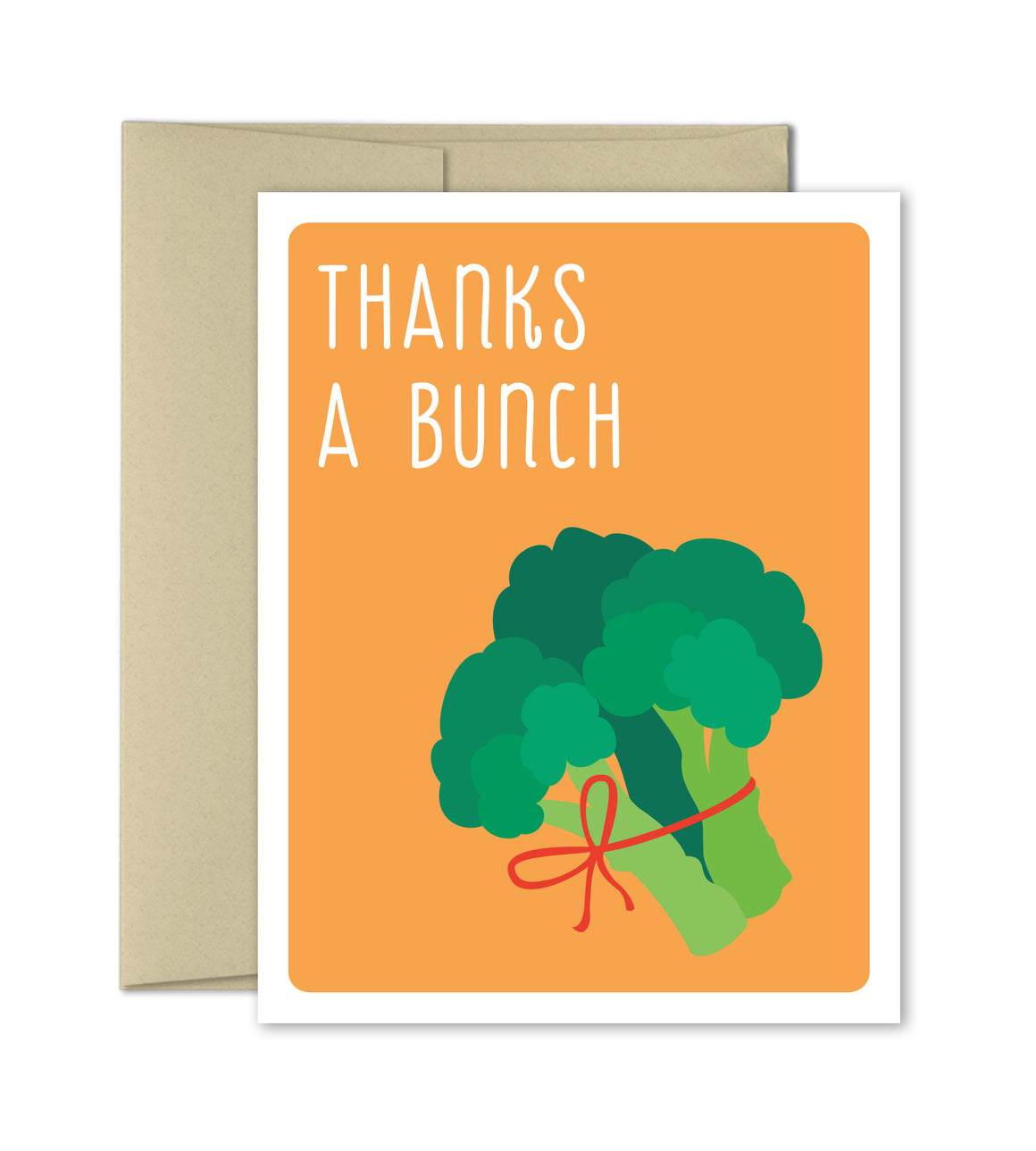 Thank You Card - Thanks a bunch - The Imagination Spot