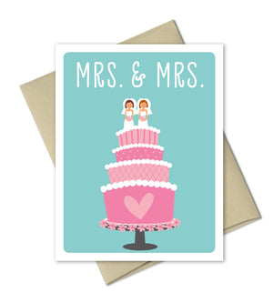 Wedding Congrats Card - Mr and Mrs - The Imagination Spot - 3