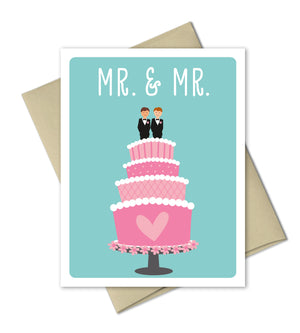 Wedding Congrats Card - Mr and Mrs - The Imagination Spot - 2