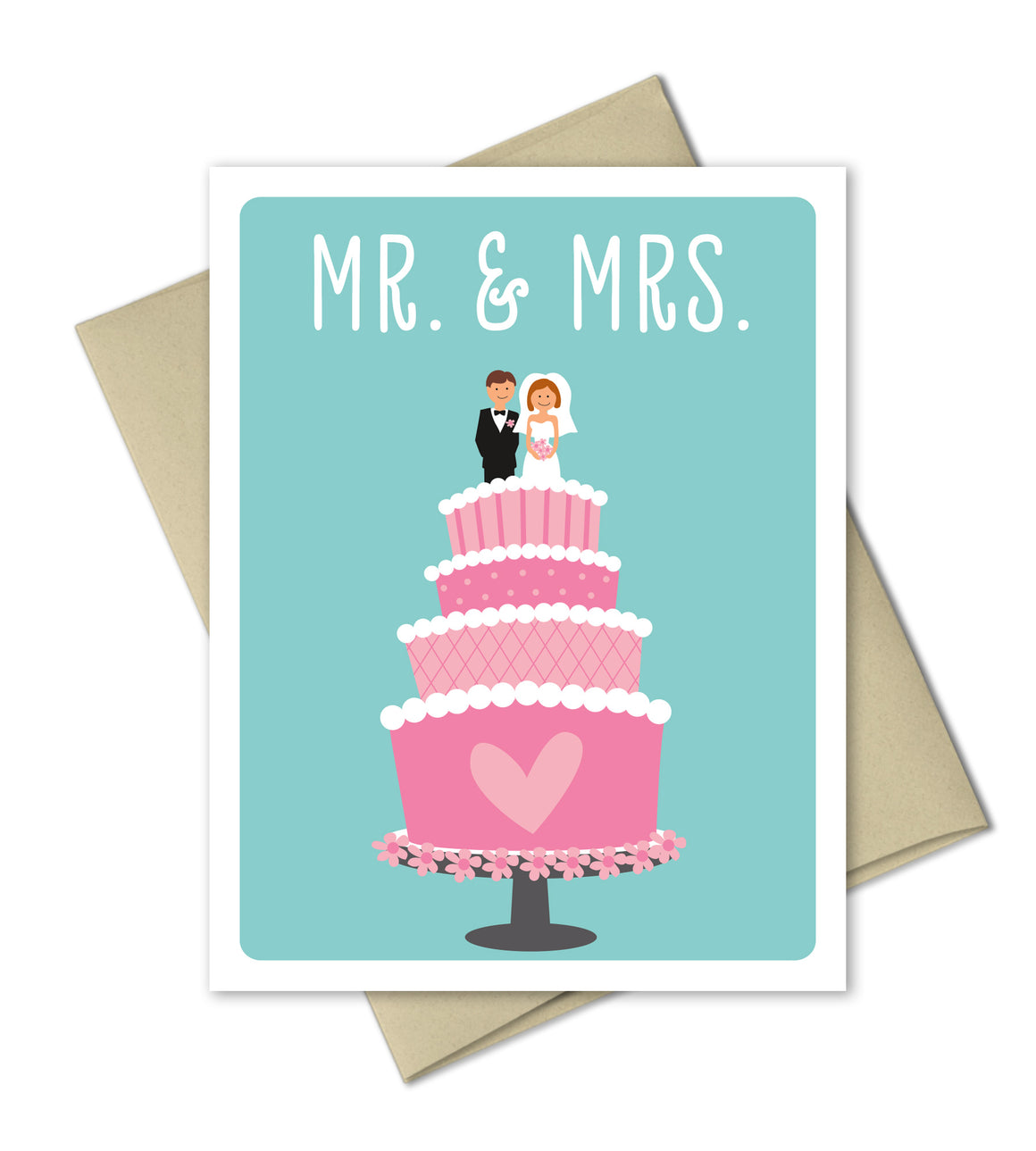 Wedding Congrats Card - Mr and Mrs - The Imagination Spot - 1