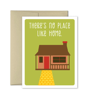 New Home Congratulations Card - No Place like Home - The Imagination Spot