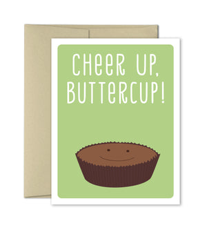 Cheer Up Buttercup - Feel Better Card - Encouragement Card - The Imagination Spot