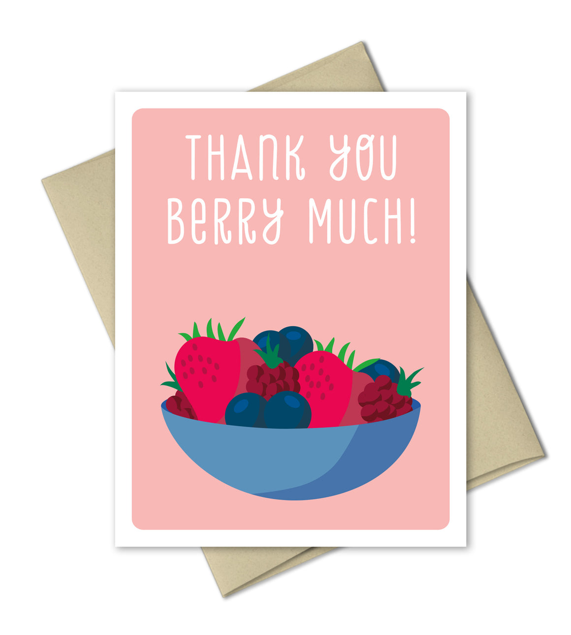 Thank You Card - Berry Much - The Imagination Spot