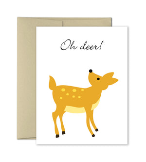 Oh Deer - Illustrated Greeting Card - The Imagination Spot