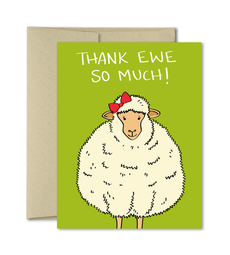 Cute Thank you sheep card - Thank Ewe by The Imagination Spot
