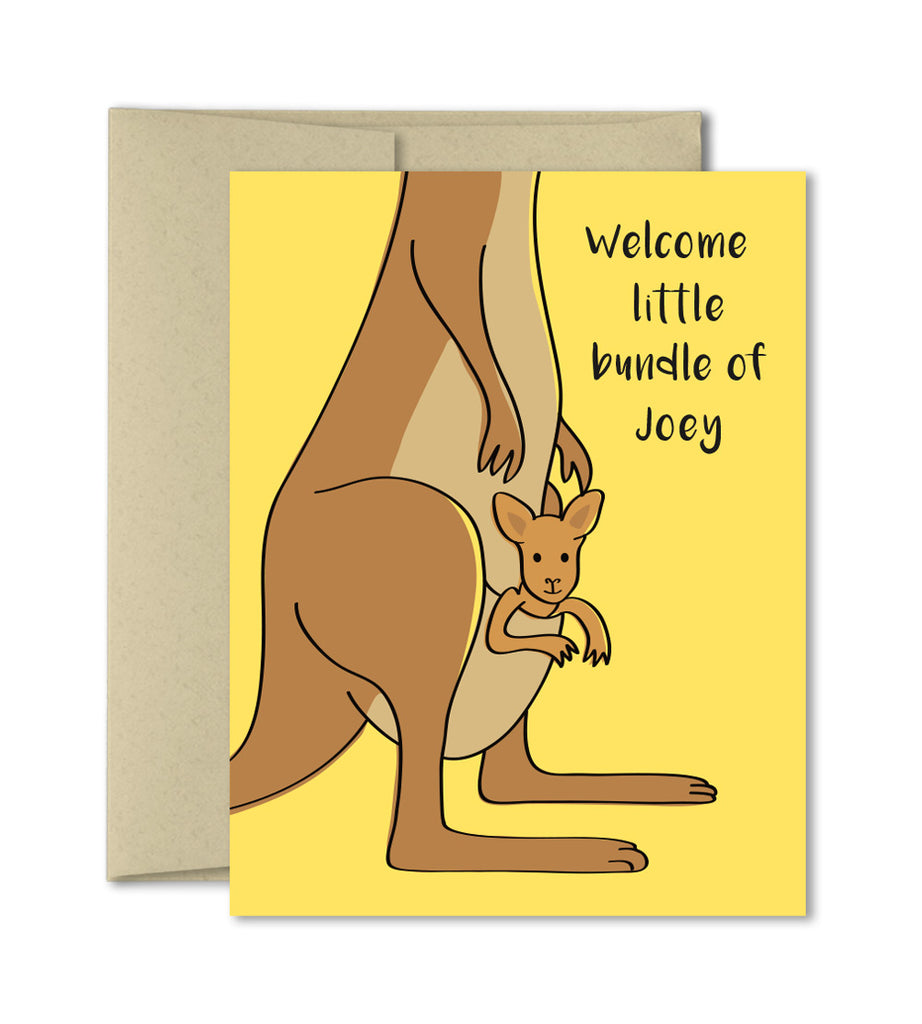 Cute New baby card - Welcome little bundle of Joey - Card by The Imagination Spot