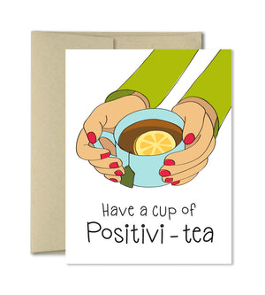 Thinking of you card - Positivi-tea