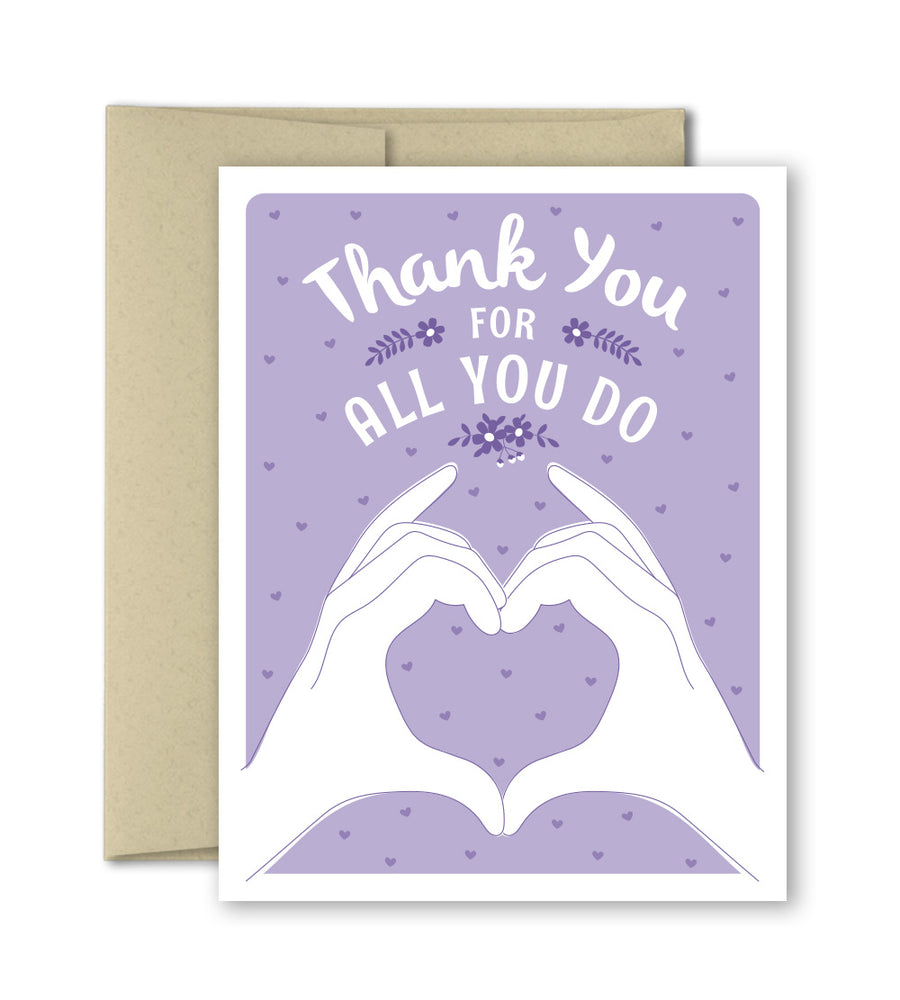 Thank You Card - For doctors, nurses, emergency responders and front line workers